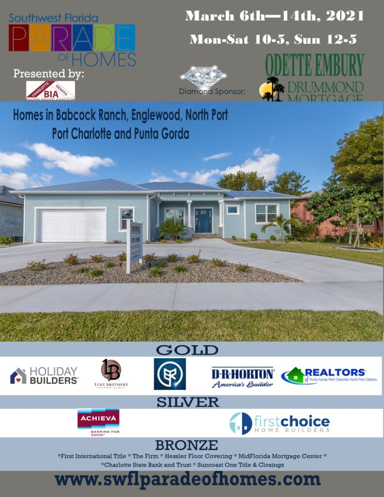 2021 Parade of Homes Flyer with sponsors